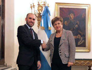 """Guzmán calificó como «muy constructivo"""" al encuentro que mantuvo con la titular del FMI"""