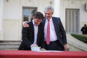 Fuerte apoyo de Alberto F. a la renegociación de la deuda bonaerense que encara Kicillof