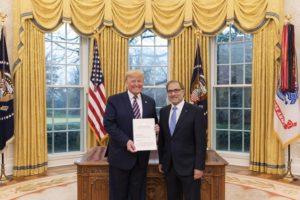 Argüello destacó el apoyo de Trump para renegociar la deuda