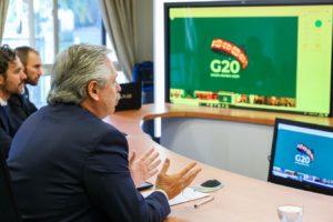 Ante el G20, Alberto F. pidió crear un «fondo de emergencia humanitaria»