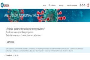 Está disponible test on-line para informar y detectar casos potenciales de coronavirus
