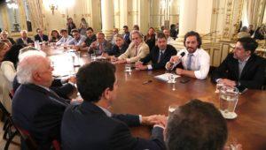 Cafiero encabezó reunión interministerial para la contención del Coronavirus