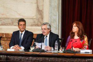 Alberto F. hizo foco en la «herencia Macri» y apuntó contra el «abuso» de los empresarios y el «oligopolio» de los jueces federales