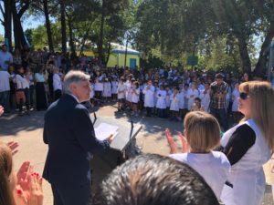 Llaryora anunció una inversión de $67 millones para la refacción y remodelación de las escuelas municipales