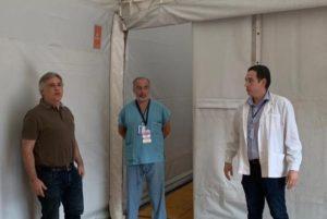El Hospital Municipal Infantil montó una carpa para casos febriles