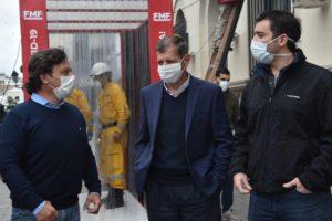 Covid-19: en la Capital salteña se instalaron dos cámaras de desinfección para peatones