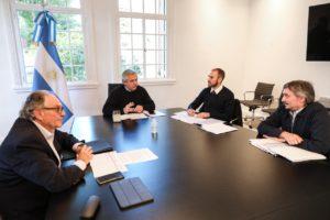 Máximo se reunió con el presidente Fernández por el proyecto (K) de impuesto a la riqueza