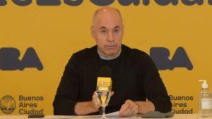 Larreta habló de una medida de emergencia «para la reorganización de las cuentas públicas» de la Ciudad