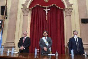 Apertura de sesiones: Con un marco inédito por la cuarentena, Sáenz se dirigió a la Asamblea Legislativa online