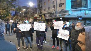 Quedó trunca la reunión con LLaryora ante la masiva protesta de la UTA en medio de la cuarentena
