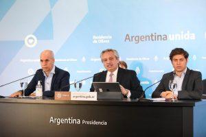 Antes de reunirse con el Presidente, Kicillof destacó el «trabajo coordinado» con Rodríguez Larreta