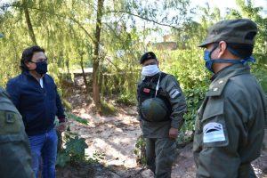 Sáenz supervisó trabajo conjunto de la Policía de Salta y Gendarmería Nacional en pasos ilegales