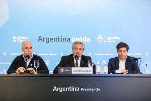 El Presidente acordó con Kicillof y Larreta avanzar en mayores restricciones a la movilidad en el AMBA