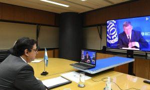 «El retorno a la nueva normalidad requerirá el esfuerzo solidario de todos», afirmó Moroni ante la OIT