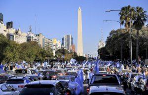 Desde la marcha #17A , Bullrich le envió un mensaje al Presidente Fernández