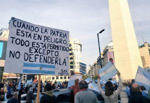 El Obelisco fue escenario de la manifestación contra la Reforma Judicial del Gobierno