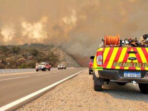 El mayor frente de fuego se desplazaba desde Pampa de Olaen hacia Characato