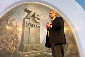 En el #17O, Fernández destacó el apoyo del «poder político y fáctico de la Argentina»