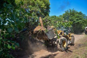 Retiran 120 toneladas de residuos de un macro basural en Posta de Vargas